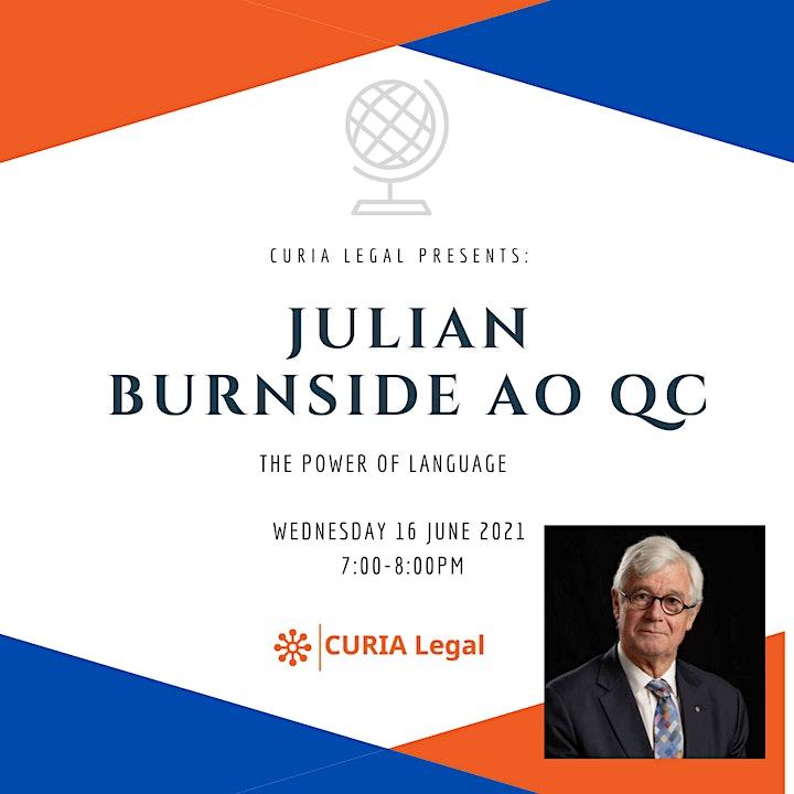 Curia Legal presents Julian Burnside AO QC - The Power of Language image