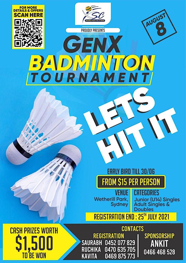 GenX Badminton Tournament image
