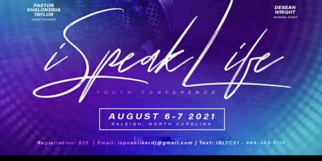 iSpeak Life Youth Conference 2021 tickets