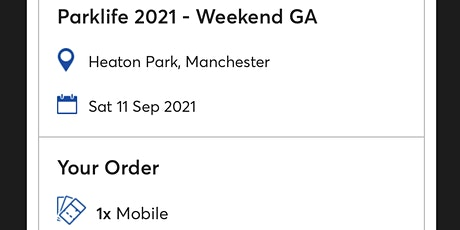 Parklife 2021 tickets