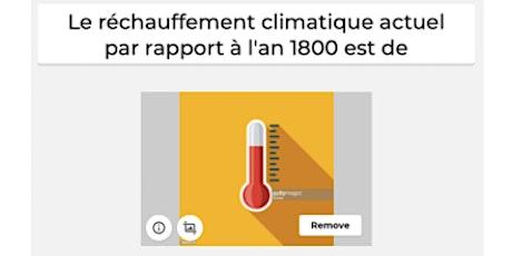 Eco-challenge : atelier quiz enjeux climats billets