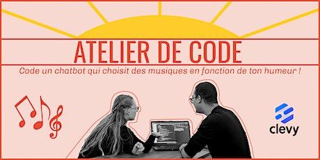 Apprends à coder un chatbot en 1h avec Clevy ! -15/06 billets