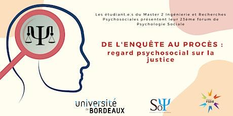 Forum de Psychologie Sociale billets