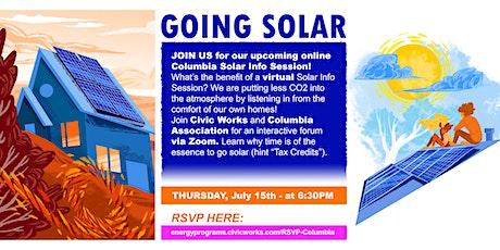 Virtual Columbia   Solar Info Session 7/15/21 tickets