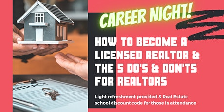 How to Become a Licensed REALTOR & The 5 Do's & Don'ts for Real Estate tickets