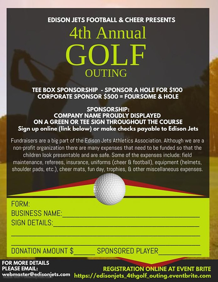 Edison Jets 4th Annual Golf Outing image