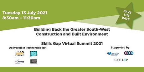 Building Back the Greater South-West Construction and Built Environment entradas