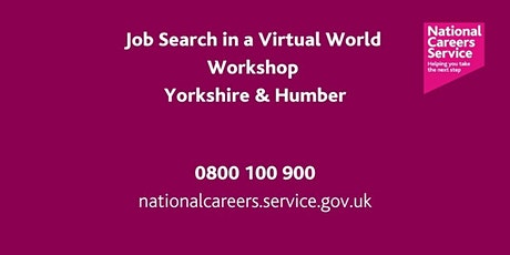 Job Search  in a Virtual World - Leeds, York and North Yorkshire tickets