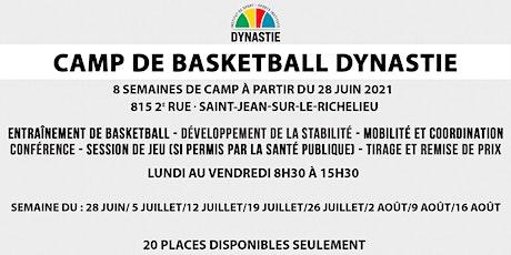 Camp de basketball Dynastie billets