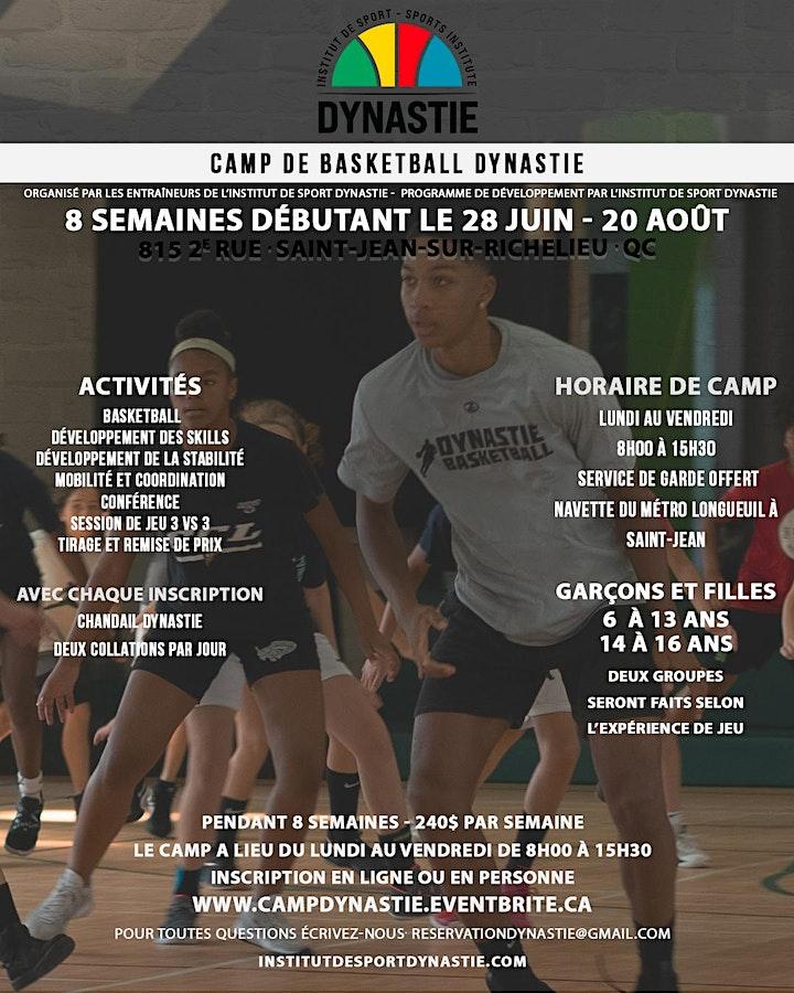 Camp de basketball Dynastie image