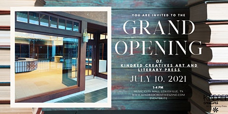 Grand Opening Kindred Creatives Art and Literary Press tickets
