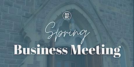 Brunswick Street Baptist Church  - Spring Business Meeting tickets