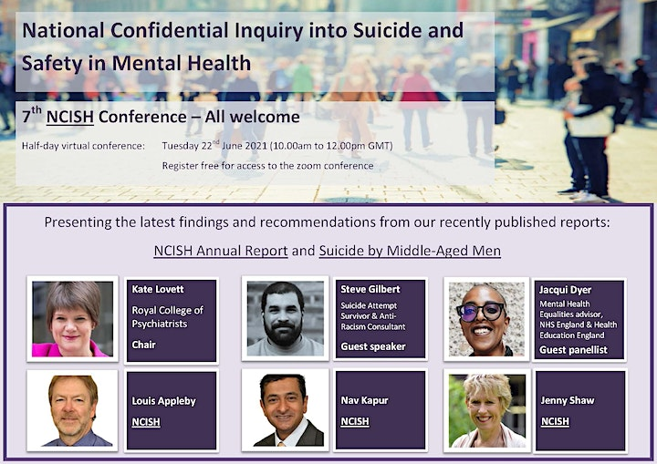 National Confidential Inquiry into Suicide and Safety 7th NCISH Conference image