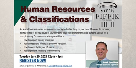 Human Resources & Classifications | Free Webinar billets