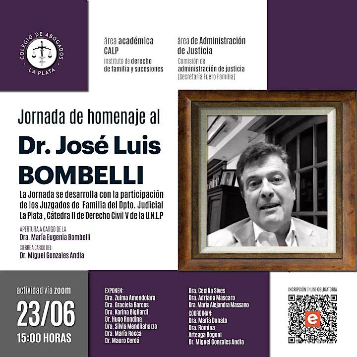 Imagen de Jornada de homenaje al Dr. José Luis Bombelli