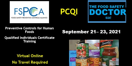 Preventive Controls Qualified Individuals (PCQI) Training  Online Training tickets