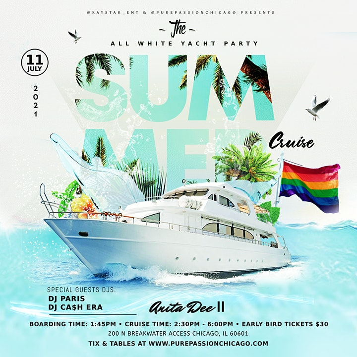 The All White Party Summer Cruise (Lgbt Sunday Funday) image