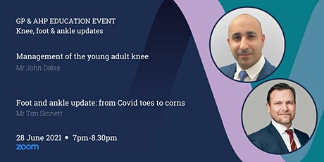 GP & AHP Educational Lecture Via Zoom - Knee, Foot & Ankle tickets