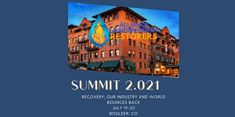 AIR Summit 2.021 Boulder, CO- Recovery tickets