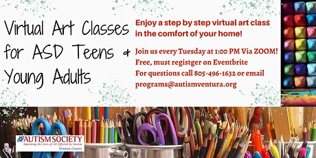 Virtual Art Class for  ASD Teens and  Young Adults tickets