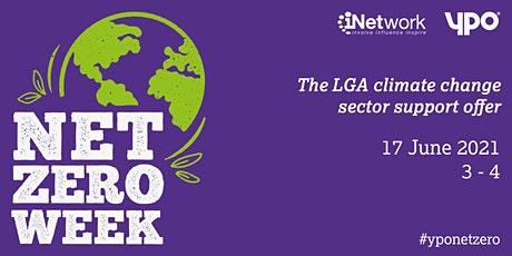 The LGA climate change sector support offer tickets