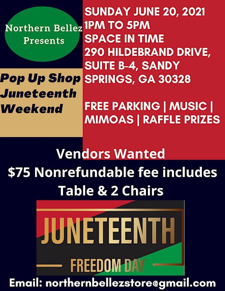Vendors Wanted: Juneteenth Celebration Pop Up Shop image