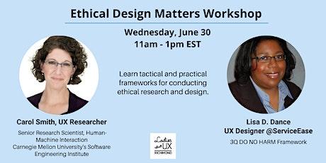 Ethical Design Matters Workshop tickets