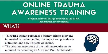 Online Trauma Awareness Training tickets