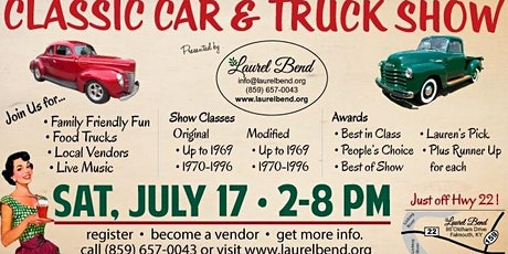 Classic Car & Truck Show at Laurel Bend tickets