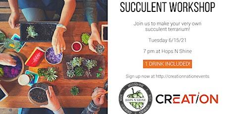 Succulent Workshop at Hops N Shine 6/15 tickets