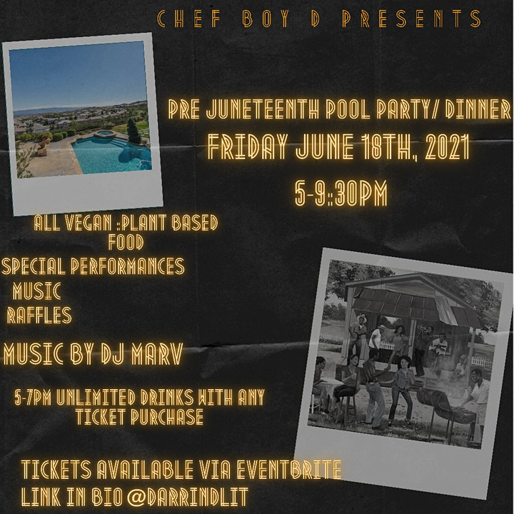 PRE JUNETEENTH POOL PARTY/DINNER image
