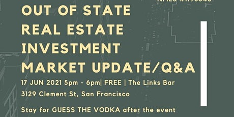 Out of State Real Estate Investment Market Update and Q&A Session tickets
