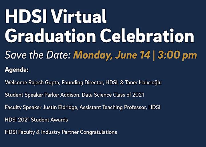 HDSI Virtual Graduation Celebration 2021 image