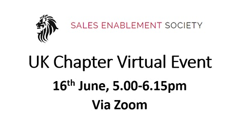 Sales Enablement Society - June  2021 Meeting tickets