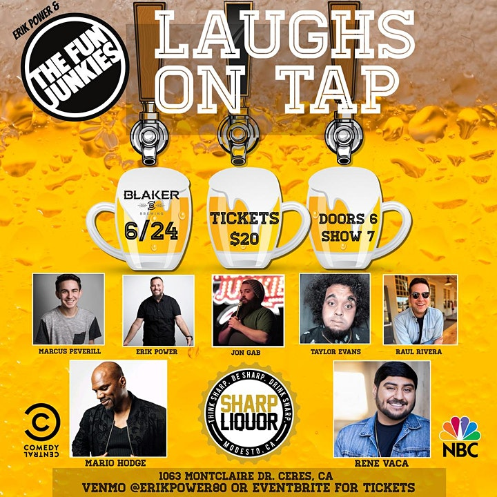 Erik Power & The Fun Junkies present Laughs on Tap image