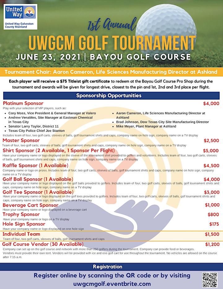 First Annual UWGCM Golf Tournament image