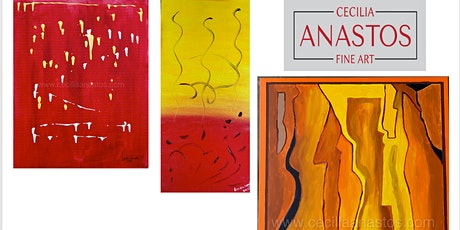 Online Art Exhibition of Abstract Paintings by Artist Cecilia Anastos tickets