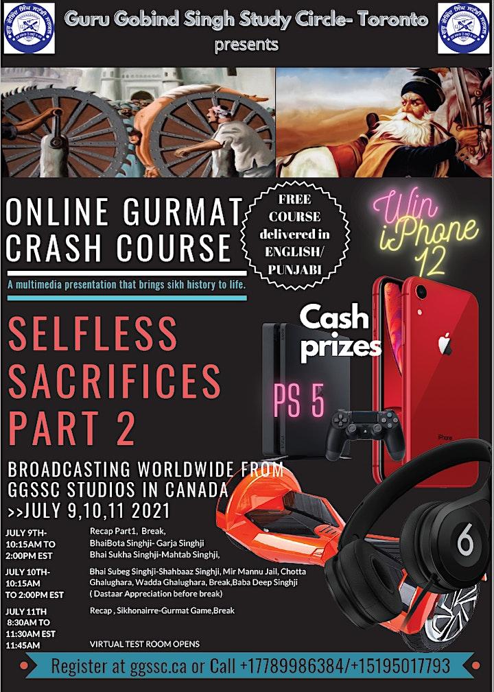 """ONLINE GURMAT CRASH COURSE """"Selfless Sacrifices Part 2"""" image"""