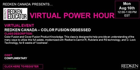 REDKEN CANADA - COLOR FUSION OBSESSED tickets