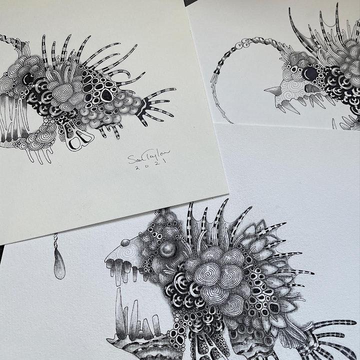 """""""Zengler"""" Fish - A Zentangle® inspired illustration image"""