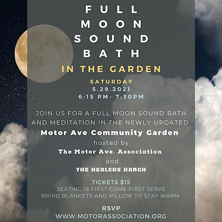 Full Moon Sound Bath in the Garden - SATURDAY image