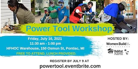 Habitat Oakland Power Tool Workshop tickets