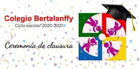 CLAUSURA CICLO ESCOLAR 2020-2021 tickets