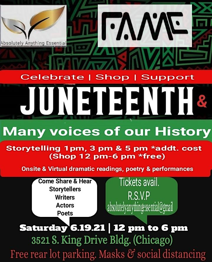 Juneteenth: Celebrate Shop and Support many voices of Chicago History image