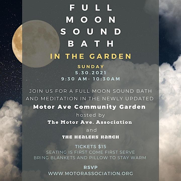 Full Moon Sound Bath in the Garden - SUNDAY image