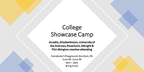 College Coaches Showcase Camp tickets