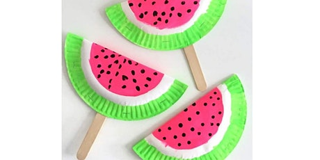 45 min Watermelon Paper Fan Crafting Lesson @2PM  (Ages 5+) tickets