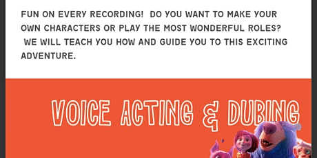 VOICE OVER & DUBBING COURSE FOR KIDS, TEENS & ADULTS/3 MONTHS COURSE! tickets