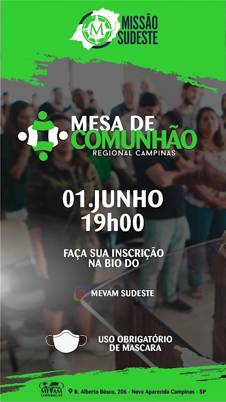 Imagem do evento MESA DE COMUNHÃO PARA PASTORES DE CAMPINAS