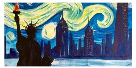 Starry Night in the City,a BOGO  Paint Night tickets